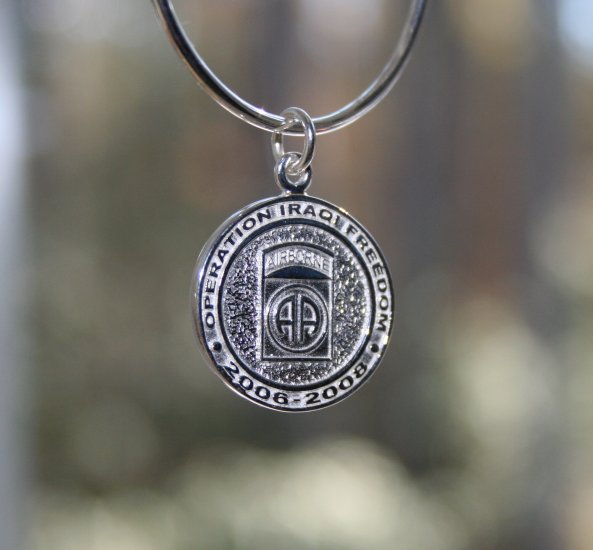 Task Force Falcon Sterling Silver Charm
