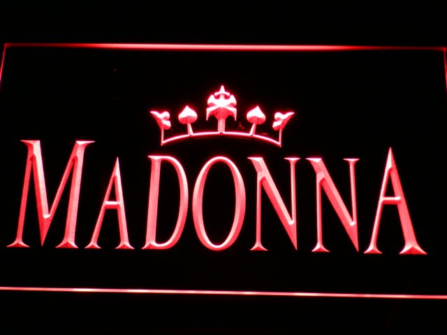 Madonna LED Neon Light Sign - Hollywood Music Theme Decor GREAT GIFT $3 Ship