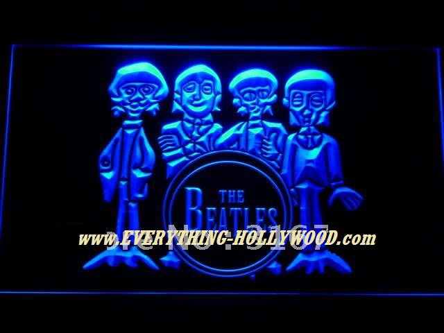 The Beatles Figures Neon Light Sign- Free Shipping