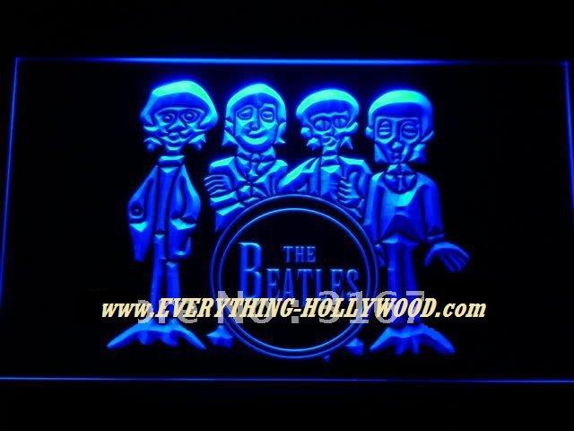 The Beatles Figures LED Neon Light Sign- Music Artist GREAT GIFT