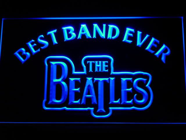 The Beatles Best Band Ever LED Neon Light Sign Music Artist - FREE SHIPPING