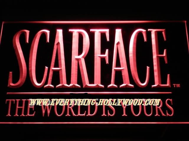 Scarface Movie LED Neon Light Sign- Hhollywood Movie theme decor GREAT GIFT