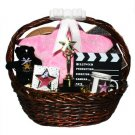 Large Superstar Walk of Fame Star Gift Basket