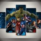 Avengers Group Movie 5pc Framed Oil Painting Wall Decor room art