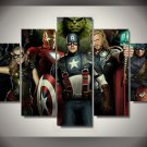 Avengers Movie Characters Framed Oil Painting Decor 5pc set Superhero