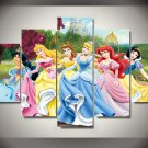 Disney Princesses Framed 5pc Oil Painting Wall Decor Cartoon bedroom art