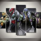 Teenage Mutant Ninja Turtles Movie 5pc Framed Oil Painting Wall Decor room art