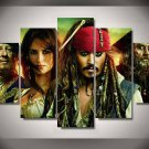 Pirates of the Caribbean Movie 5pc Oil Painting Framed Wall Decor Disney Bedroom art