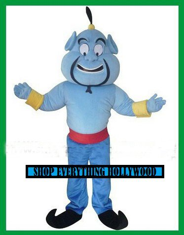 Genie from Disneys Aladdin Character Mascot Adult Costume FREE SHIPPING