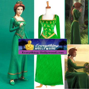 sc 1 st  Everything-Hollywood - eCRATER & Shrek Princess Fiona Character Costume Adult Custom Design