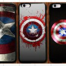 Captain America Shield for iPhone 4 4S 5 5S 5C 6 6 PLUS-$1 SHIP