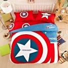 Captain America Super Hero Design Bedding Cover Set - Twin Size