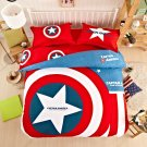 Captain America Super Hero Design Bedding Cover Set - King Size