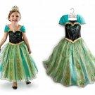 Anna Frozen Princess Character Dress CHILD MULTIPLE SIZES