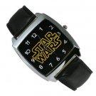 Star Wars logo Watch Black Leather Band ANY WATCH SALE $1 SHIP