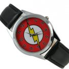 The Flash Boy Quartz Watch Black Leather Band $2 SHIP