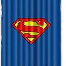Superman Logo Superhero Design Shower Curtain-60x72-