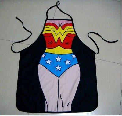 Wonderwoman Character Body Print Apron -$2 SHIP