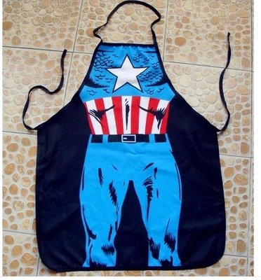 Captain America Character Body Print Apron