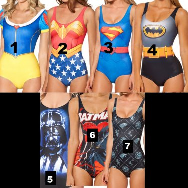 5ad6d010af6aa One Size One Piece Character Women Bathing suit Swimwear Batman ...