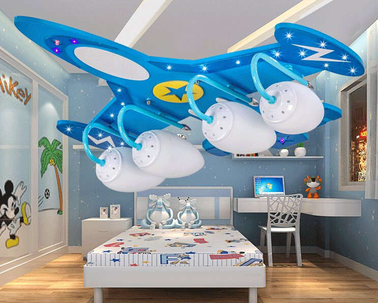 Airplane Theme Ceiling Light Deco LED Bedroom Playroom - NEW