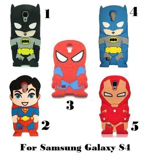 Batman, Superman, Spiderman, Iron Man Galaxy S4 Cell Phone Cover $1.95 SHIPPING