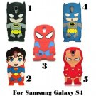 Batman, Superman, Spiderman, Iron Man Galaxy S4 Cell Phone Cover $1.95 SHIPPING