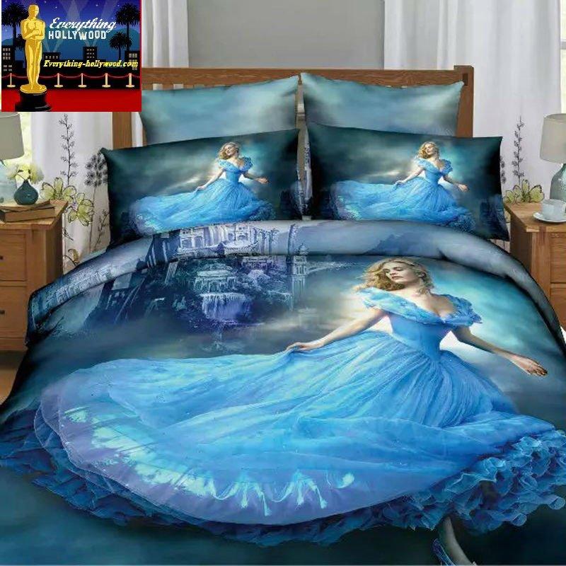 Cinderella 3D Design Bedding Cover Set NEW - King Size