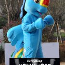 Rainbow Dash Mascot Costume My Little Pony Cartoon Character