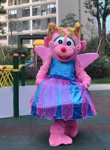 Little Plum Mascot Costume Sesame Street Adult Character-SALE PRICE