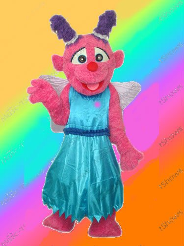 Little Plum Mascot Costume W/ Wings Sesame Street Character- SALE