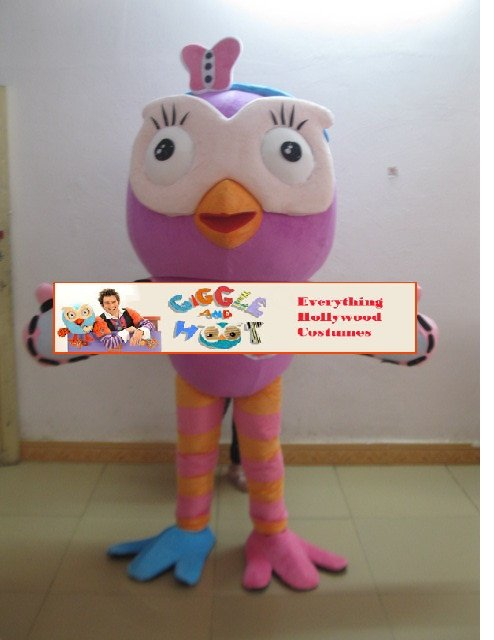 Giggle and Hoot Mascot Costume Adult Giggle Character -NEW ARRIVAL