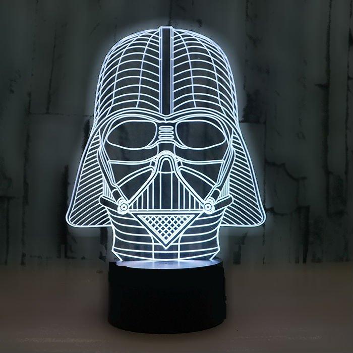 Darth Vader 3D LED Light Lamp Tabletop Decor 7 Colors -Star Wars ON SALE