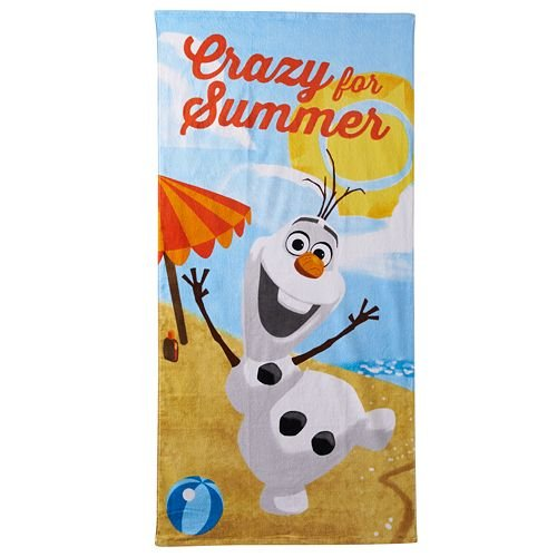 Disney's Frozen Olaf  Beach Towel 'Crazy For Summer''SALE $10 OFF LIMITED QTY