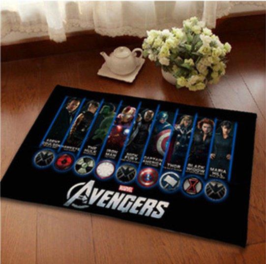 Avengers Accent Bedroom Carpet, Bath or Door Mat -NEW