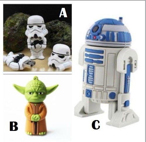 Star Wars Character USB Flash Drives 8GB r2d2 yoda storm trooper -