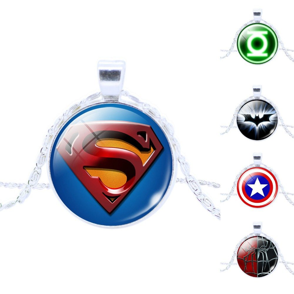 Marvel Superhero Pendant Chain Necklaces Superman Batman Captain America Spiderman $1 SHIP