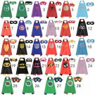 Superhero Cape and mask set 28 Designs Batman, Superman, Ninja Turtles, Captain America