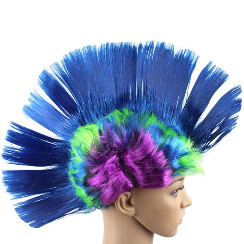 Hollywood Punk Mohawk Wig Adult Costume Accessory New