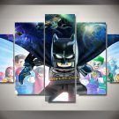 Lego Superhero Batman 5pc Wall Decor Framed Oil Painting Cartoon