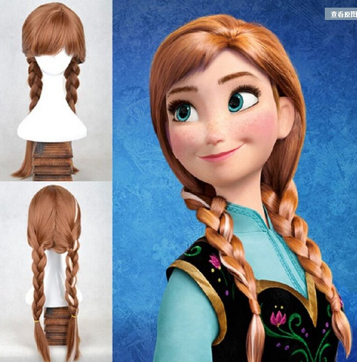 Anna Frozen Character Wig Adult Size Costume Accessory