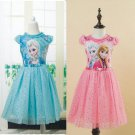 Elsa Anna Frozen Ball Gowns Girls Dress Kids 2T, 3T, 4T, 5-10 BLU/PNK