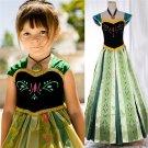 Anna Frozen Princess Character Frozen Deluxe Dress costume CHILD 2T,3T, 4T, 5-12 SALE NOW