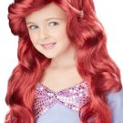 Girls Red Ariel Little Mermaid Wig Kids Costume Accessory