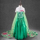 Elsa  Frozen Princess Character Green Costume Dress CHILD 3T, 4T,5,6,7,8,9,10,11,12
