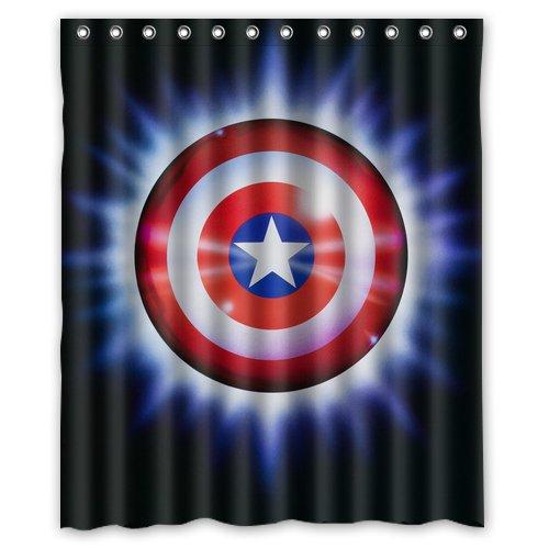 Captain America Shield Avengers Superhero Design 4 Shower Curtain