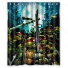 TMNT Teenage Mutant Ninja Turtles Design Shower Curtain 2 Size options