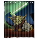 Yoda Star Wars Design Shower Curtain 2 Size options