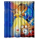 Beauty and the Beast Design 1 Shower Curtain 2 Size options