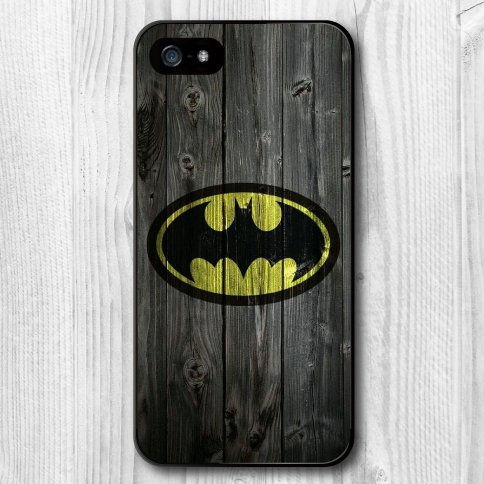 Batman Logo on Wood  iphone Cover for iphone 5 & 5s SALE PRICE